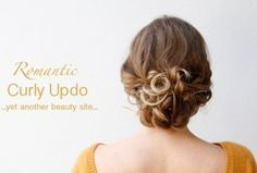 loose low curly updo