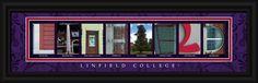 Linfield College Officially Licensed Framed Letter Art