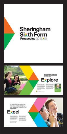 Logo design and prospectus for North Norfolk based Sheringham Sixth Form as part of their rebrand which was headed up by marketing agency w. Brochure Indesign, Template Brochure, Corporate Brochure Design, Corporate Identity, Design Poster, Ad Design, Branding Design, Graphic Design, Design Ideas