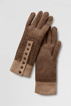 Women's Tipped Cuff Gloves from Lands' End