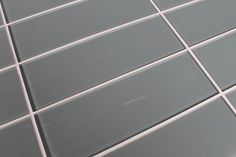 Chimney Smoke Blue Gray 4x12 Glass Subway Tiles