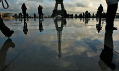 The Eiffel Tower in the afternoon