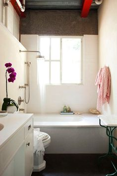 I Love That The Whole House Is White With Small Pops Of Color Bathroom