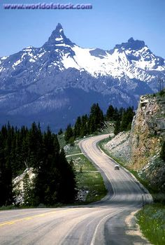 Beartooth Highway MT, the pass from Red Lodge to Cook City. It is the north entry into Yellowstone.