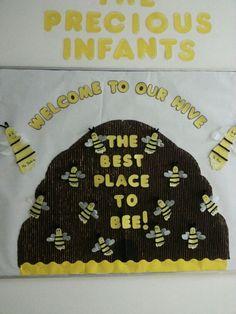 Infant Classroom Door Ideas Bulletin Boards Ideas For 2019 Infant Room Daycare, Daycare Rooms, Daycare Crafts, Infant Classroom Ideas, Daycare Ideas, Preschool Ideas, Toddler Bulletin Boards, Classroom Bulletin Boards, Classroom Door