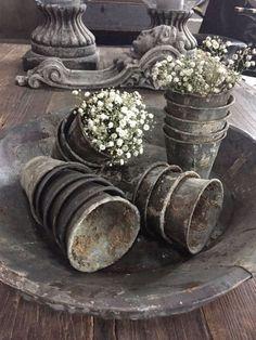 French zinc pots.