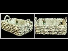 (95) How to make a Newspaper Basket - YouTube