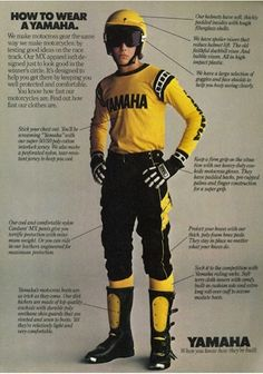 Vintage Yamaha Motocross Riding Gear