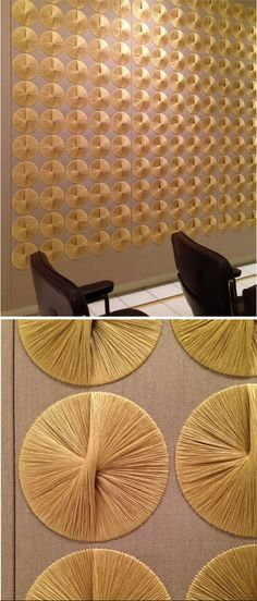 Sheila Hicks's fabric murals 1967 made for the Ford Foundation in New York in collaboration with Warren Platner - the murals were restored in 2014 Wall Sculptures, Sculpture Art, Warren Platner, Sheila Hicks, Ford Foundation, Deco Floral, Wall Decor, Wall Art, Fabric Manipulation