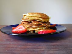 Buttermilk Pancakes with Cinnamon Honey Butter... the best pancakes in the world!!