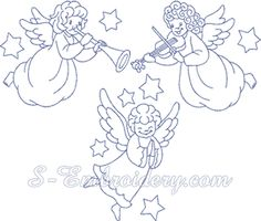 SKU 10171 Christmas Angels Machine Embroidery Set