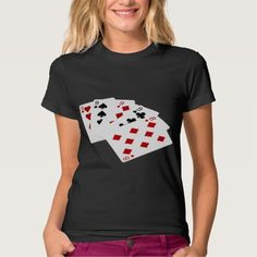 Poker Hands - Four Of A Kind - Nines and Eight Tee Shirt