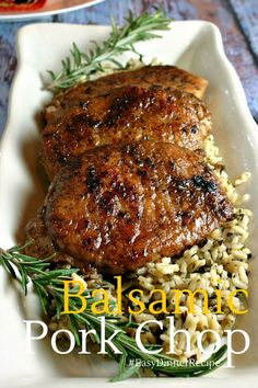 Balsamic Pork Chop | Life, Love, and Good Food #recipe #dinner #porkchop