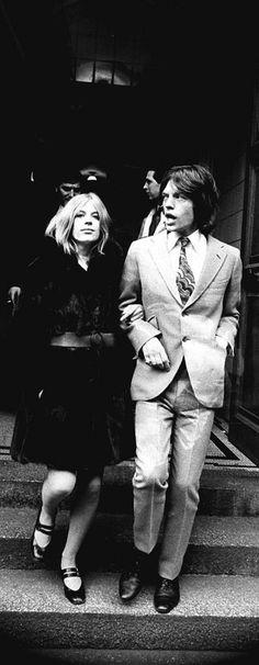 Marianne Faithfull & Mick Jagger - 1969