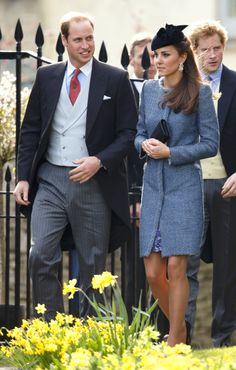 The Duke and Duchess of Cambridge attend the wedding of Lucy Meade and Charlie Budgett. via StyleList