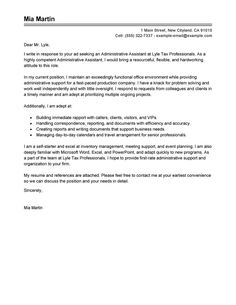 Image Result For Cover Letter For Admin Assistant With Experience