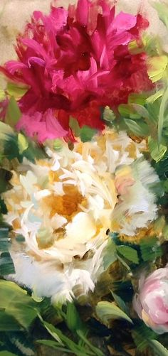 Flower art painting oil peonies 40 new ideas Acrylic Flowers, Acrylic Art, Paintings I Love, Beautiful Paintings, Flower Paintings, Art Aquarelle, Watercolor Paintings, Art Floral, Peony Painting