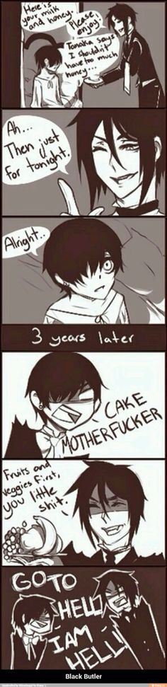 black butler comic cake - Google Search