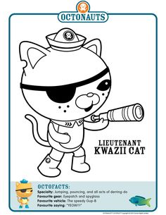 Octonauts character coloring pages.