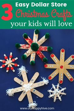 Check out these fun Christmas Crafts for kids. You'll spark preschooler and elementary age children's creativity and keep their attention with these simple and cheap holiday crafts. Make memories together and create a new family tradition! Kids Crafts, Childrens Christmas Crafts, Christmas Crafts For Kids To Make, Kids Christmas, Family Crafts, Christmas Activities For Children, Cheap Christmas Ornaments, Dollar Store Christmas, Cheap Holiday