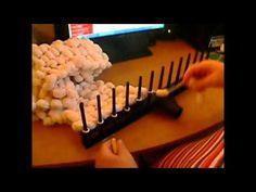 Bambulkový šál pletený na hrabliach | Návod