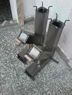 Cocina Cohete Rocket Stove Quemador Disco De Arado - $ 780,00 Welding Shop, Welding Art, Furnace Heater, Smoke Bbq, Rocket Stoves, Barber Chair, Metal Projects, Bbq Grill, Tiny House