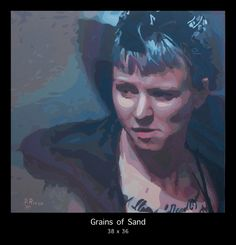 """""""GRAINS OF SAND"""" a beautiful and intense painting by San Francisco artist Donald Rizzo. See more of his works at www.Donald-Rizzo.com"""