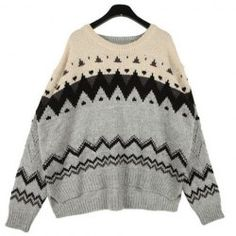 Vintage Round Neck Loose-Fitting Long Sleeve Women's Sweater
