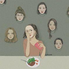 韓國療癒系插畫,讓你學會用不同角度去看事情,快來追蹤她來治癒你疲憊的小小心靈吧 - PopDaily 波波黛莉的異想世界