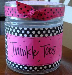 Twinkle Toes...a cheap, easy DIY mani/pedi gift kit