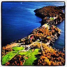 #Aerial #KelticLodge #CapeBreton #Resort #Property #NovaScotia #Vacation #Ocean #Views #VisitNovaScotia #Travel #Canada #PicoftheDay #Beautiful #Photography Visit Nova Scotia, Cabot Trail, Cape Breton, Atlantic Ocean, Aerial View, Lodges, East Coast, Golf Courses, Coastal