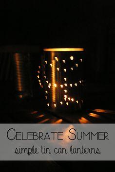 Simple Tin Can Lanterns that Kids Can Make