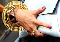 Paris Fashion Week SS2014 street style #jewelrytrends via Adorn London