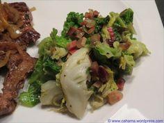 Lauwarmer Wirsingsalat mit Speck