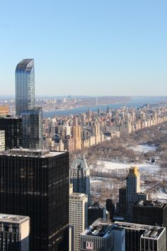 View from Top of the rocks to Central Park