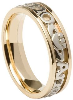 Fine Rings Jewelry & Watches Gold Celtic Wedding Band Yellow Gold Celtic Ladies Solid Hallmarked More Discounts Surprises