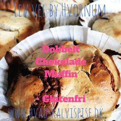 Dobbelt chokolade muffin med citron – Glutenfri