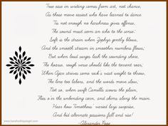 A 300 year old poem very applicable to Bloggers and writers.
