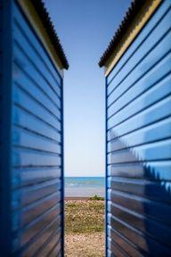 #Blue beach huts #JackWills
