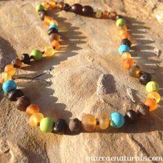 CUSTOM Genuine Baltic amber Teething Necklace in by MacRaeNaturals, $31.95