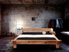 MAMMUT Doppelbett/Massivholzbett Sumpfeiche geölt 140 x 200 cm   geölt   ohne Kopfteil