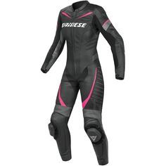 DAINESE Racing Professional Lady Black / Anthracite / Fuxia Suit