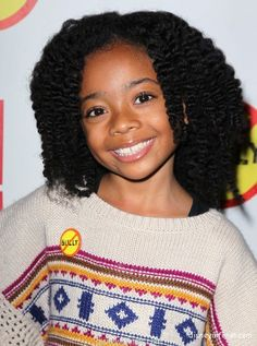 Skai Jackson - her twist out is super adorable