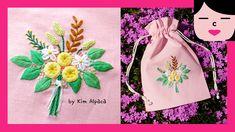 Little Rose, Rose Bouquet, Embroidery Art, Elsa, Free Pattern, Pouch, Flowers, Modern, Needlepoint