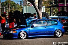 Honda Civic EG BLUE HELLAFLUSH