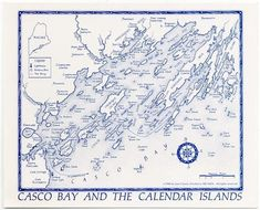 casco bay islands maine at DuckDuckGo Casco Bay, Falmouth, Piece Of Me, Maine, Vintage World Maps, Calendar, Islands, Google Search, Life Planner