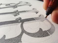 Hand Letting Stippling