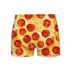 Pizza Invasion Workout Shorts - When you work out but you're still all about about that pizza life. Throw Pillows Bed, Floor Pillows, Pizza Pillow, Pizza Life, Long Hoodie, Pepperoni, Workout Shorts, Summer Collection, Chiffon Tops