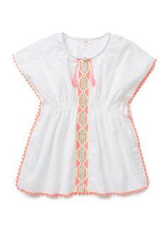 Girls Shirts Tops Tees   Embroidered Kaftan   Seed Heritage