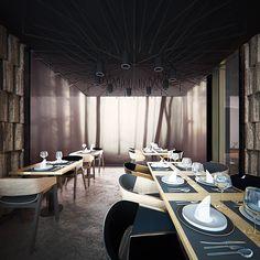 YOKO | restaurant Bistro Design, Lounge Design, Bar Interior Design, Restaurant Interior Design, Restaurant Photos, Cafe Restaurant, Hotel Interiors, Hospitality Design, Interior Architecture